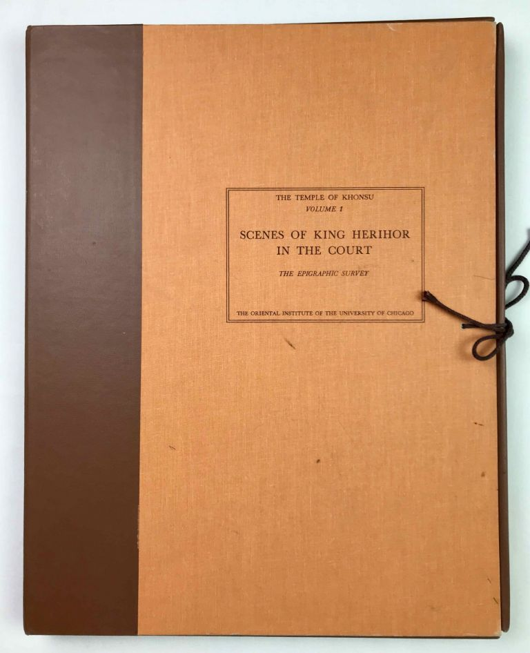 Temple of Khonsu. Vol. I: Scenes of King Herihor in the court. Vol. II: Scenes and inscriptions in the court and the first hypostyle hall (complete set). AAD - Chicago Institute.[newline]M0018e-00.jpeg