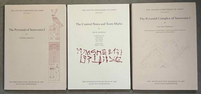 The south cemeteries of Lisht. Vol. I: the pyramid of Senwosret I. Vol. II: The control notes and team marks. Vol. III: the pyramid complex of Senwosret I (complete set). ARNOLD Dieter.[newline]M0092-00.jpeg