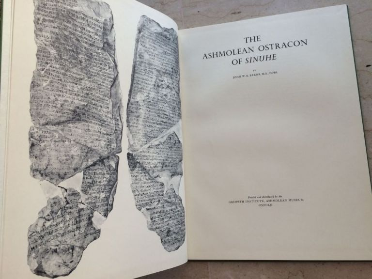 The Ashmolean ostracon of Sinuhe. BARNS John Wintour Baldwin.[newline]M0115a.jpg