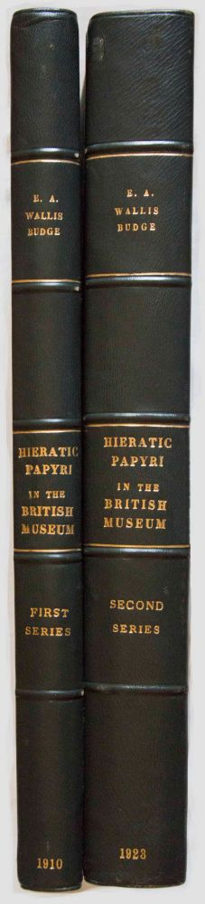 Facsimiles of Egyptian Hieratic Papyri in the British Museum. 1st series & 2nd series. BUDGE Ernest Alfred Wallis.[newline]M0266.jpg