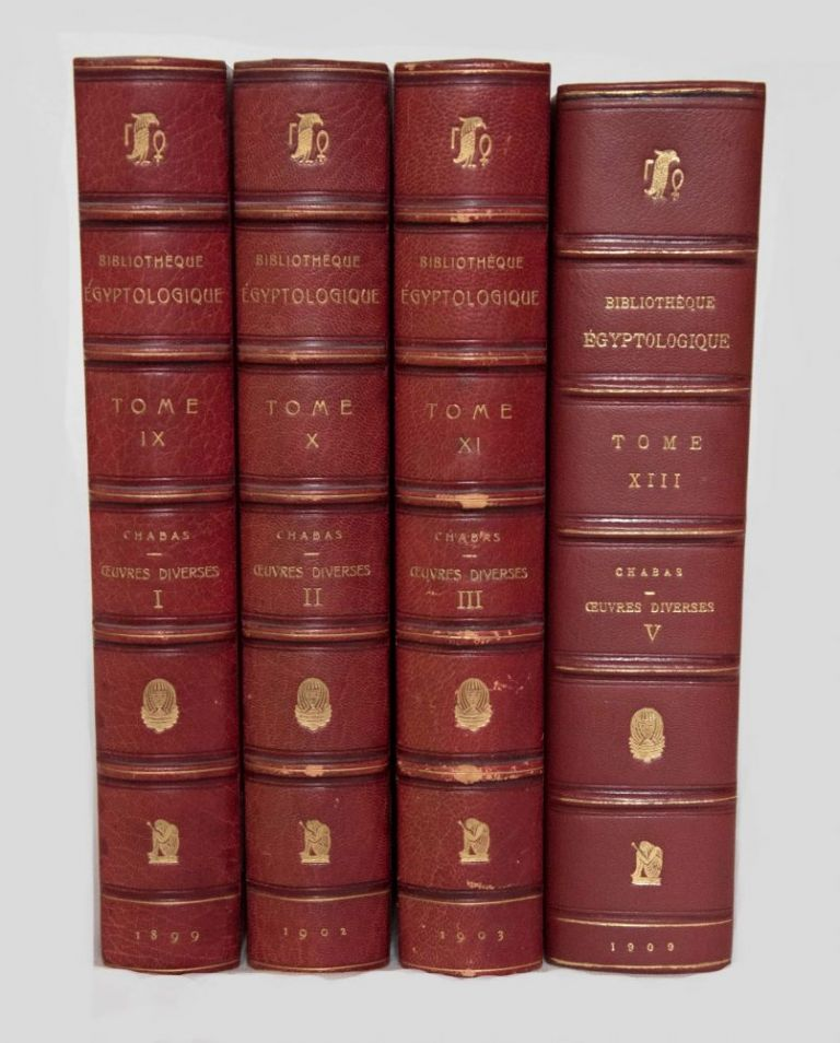 Oeuvres diverses. Tomes I, II, III & V (tome IV is missing). CHABAS François.[newline]M0340.jpg