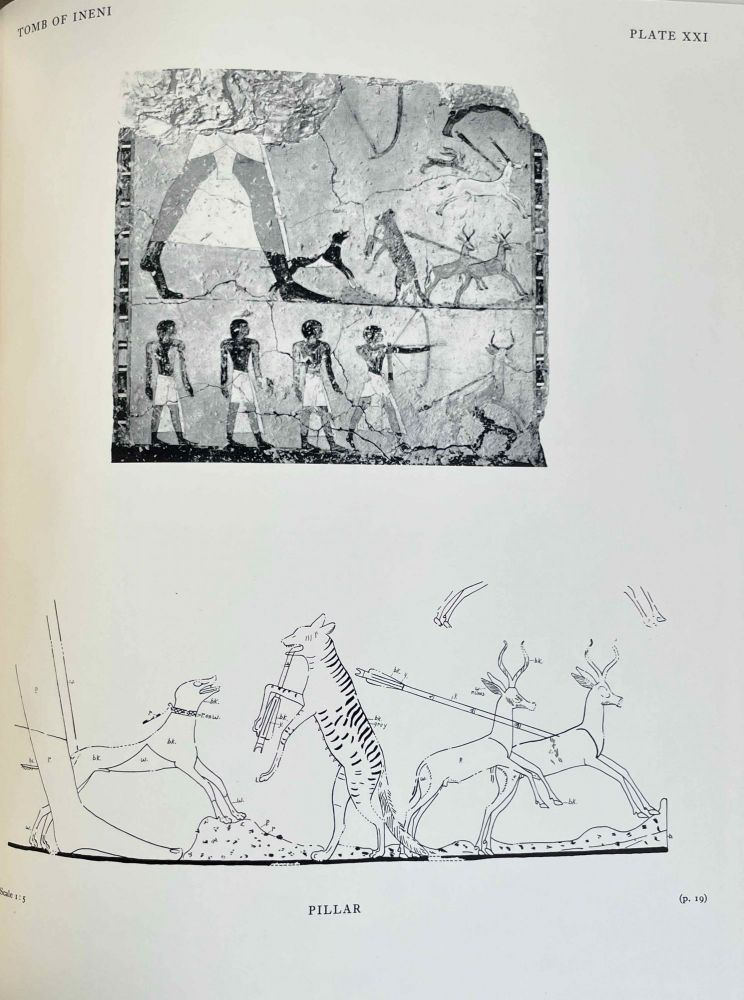 Scenes from some Theban tombs (Nos 38, 66, 162 with excerpts from 81). DAVIES Nina de Garis.[newline]M0401-00.jpeg