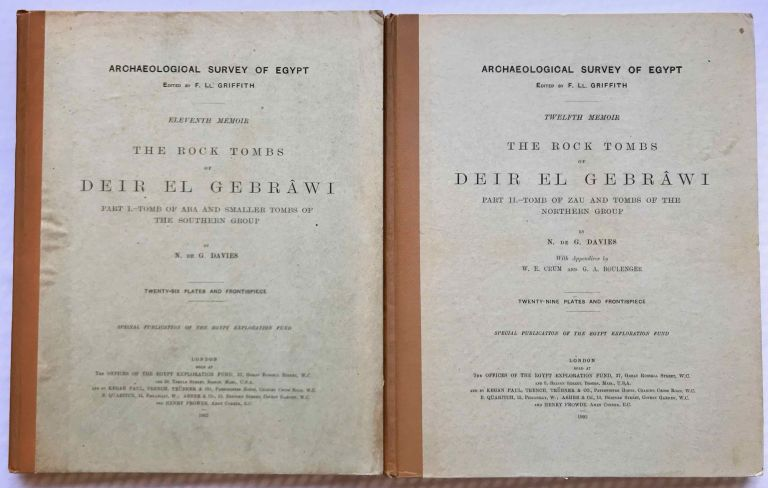 The rock tombs of Deir el-Gebrawi. Part I: Tomb of Aba and smaller tombs of the southern group. Part II: Tomb of Zau and tombs of the northern group (complete set). DAVIES Norman de Garis.[newline]M0407f.jpg