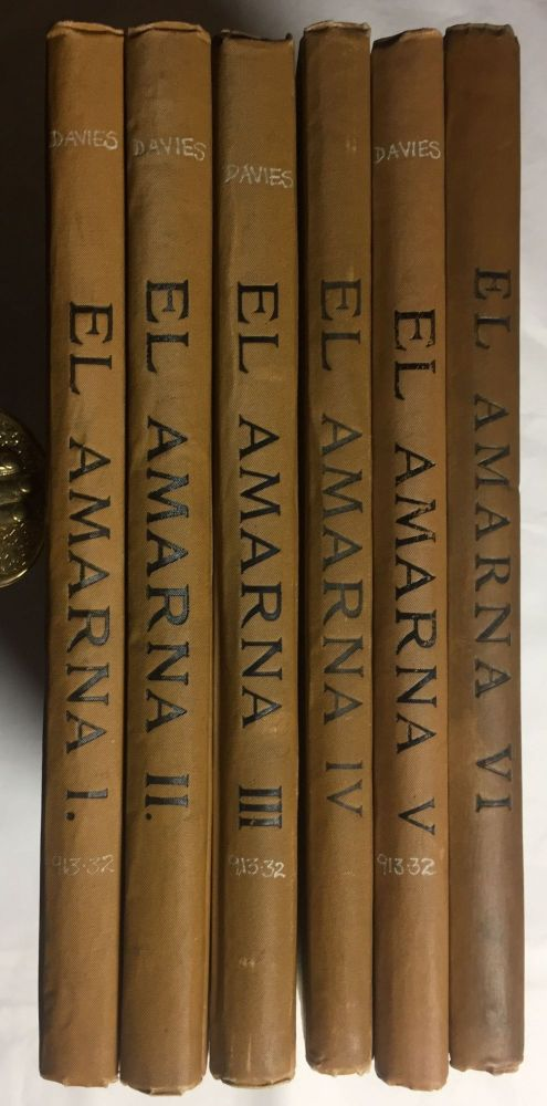 The rock tombs of Tell el-Amarna. Complete set of 6 volumes in the FIRST EDITION. Part I: The Tomb of Meryra. DAVIES Norman de Garis.[newline]M0410.jpg