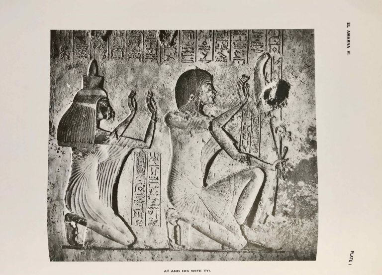 The rock tombs of Tell el-Amarna. Complete set of 6 volumes. Part I: The Tomb of Meryra. Part II: The Tombs of Panehesy and Meryra II. Part III: The Tombs of Huya and Ahmes. Part IV: Tombs of Penthu, Mahu, and Others. Part V: Smaller Tombs and Boundary Stelae. Part VI: Tombs of Parennefer, Tutu, and Aÿ (complete set of 6 parts in 3 volumes, 2004 reedition). DAVIES Norman de Garis - KEMP Barry.[newline]M0410n-00.jpeg