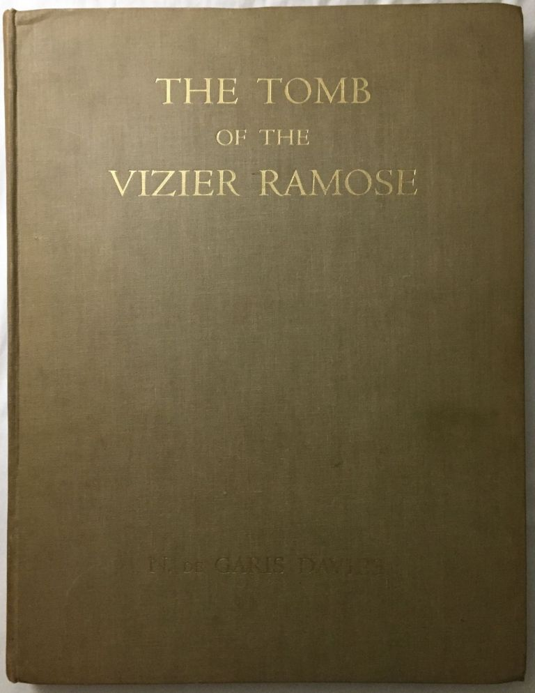 The tomb of the vizier Ramose. DAVIES Norman de Garis.[newline]M0430c.jpg