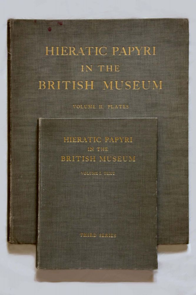 Hieratic papyri in the British Museum. Third Series: Chester Beatty Gift. Vol. I: Text. Vol. II: Plates (complete set). GARDINER Alan Henderson.[newline]M0603b.jpg