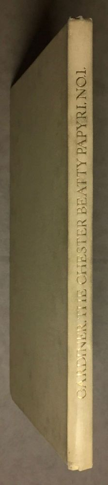 The Library of A. Chester Beatty. Description of a hieratic papyrus with a mythological story, love-songs, and other miscellaneous texts. (The Chester Beatty Papyri. 1.). GARDINER Alan Henderson.[newline]M0613b.jpg