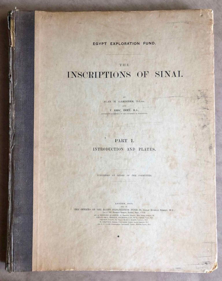 The inscriptions of Sinai. Part I: Introduction and plates. GARDINER Alan Henderson - PEET Eric.[newline]M0626e.jpeg