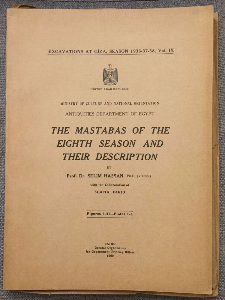 Excavations at Giza. Vol. IX (1937-1938). The mastabas of the eighth season and their description. HASSAN Selim.[newline]M0762a.jpg
