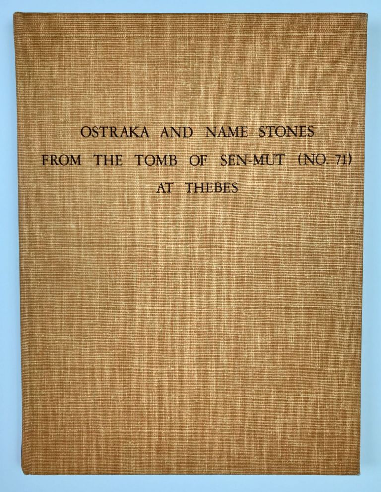 Ostraka and name stones from the Tomb of Sen-Mut (No 71) at Thebes. Photographs by Harry Burton. HAYES William Christopher.[newline]M0768c-00.jpeg