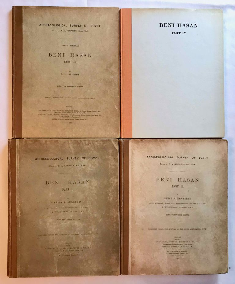 Beni Hasan. Part I, II, III & IV (complete set). Signed copies. GRIFFITH Francis Llewellyn T. - NEWBERRY Percy E.[newline]M1209l.jpg