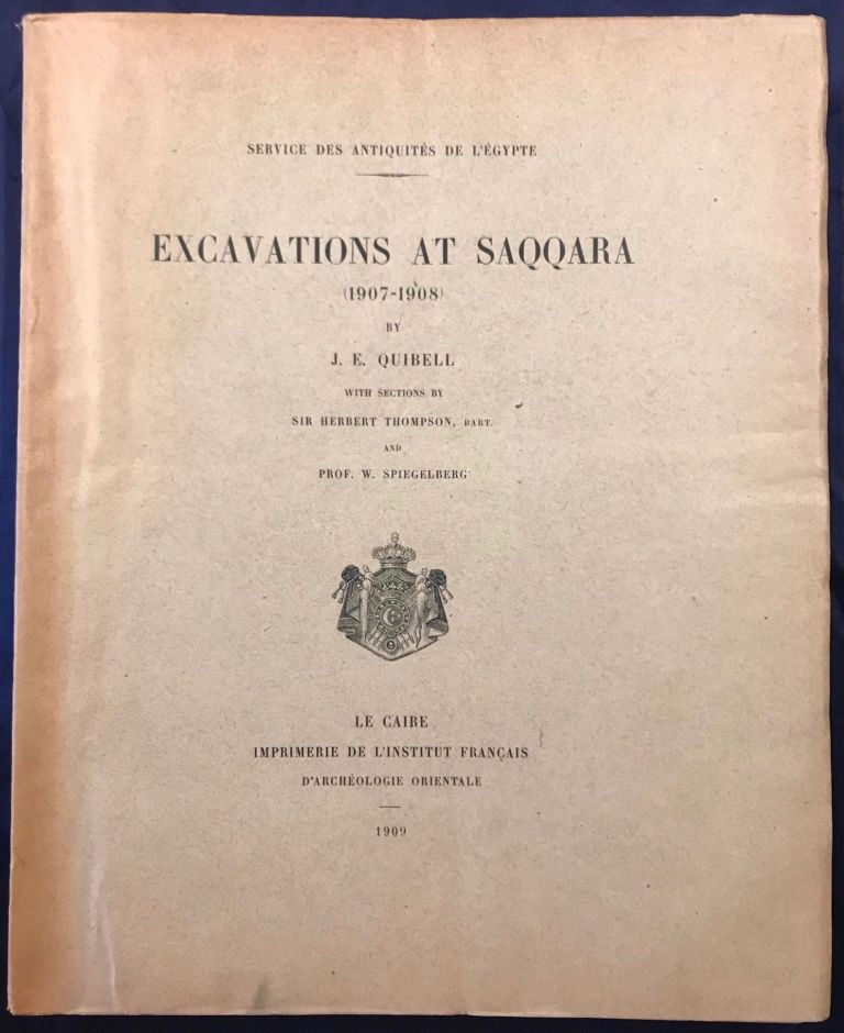 Excavations at Saqqara (1907-1908). With sections by Herbert Thompson and W. Spiegelberg. QUIBELL James Edward.[newline]M1391a.jpg