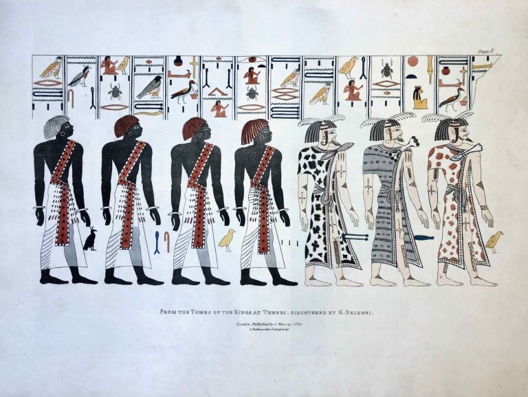 Narrative of the Operations and Recent Discoveries within the Pyramids, Temples, Tombs, and Excavations, in Egypt and Nubia; and of a Journey to the Coast of the Red Sea, in Search of the Ancient Berenice; and Another to the Oasis of Jupiter Ammon, with Plates illustrative of the researches and operations of G. Belzoni in Egypt and Nubia. BELZONI Giovanni Battista.[newline]M1874a-00.jpeg