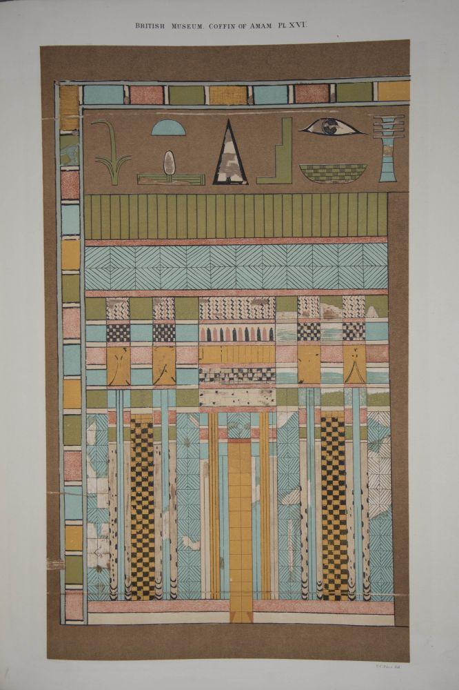 Egyptian Texts of the Earliest Period from the Coffin of Amamu in the British Museum. BIRCH Samuel.[newline]M2227.jpg