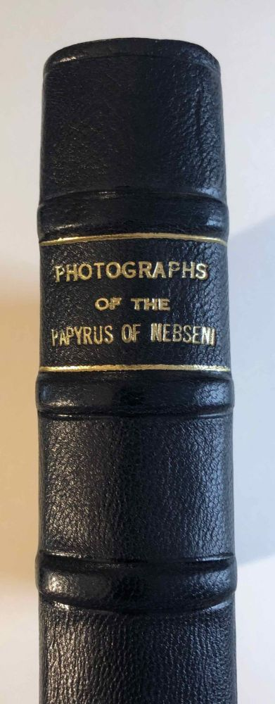 Photographs of the papyrus of Nebseni in the British Museum. AAF - Museum - British Museum - BUDGE Ernest Alfred Wallis.[newline]M3273a-01.jpeg