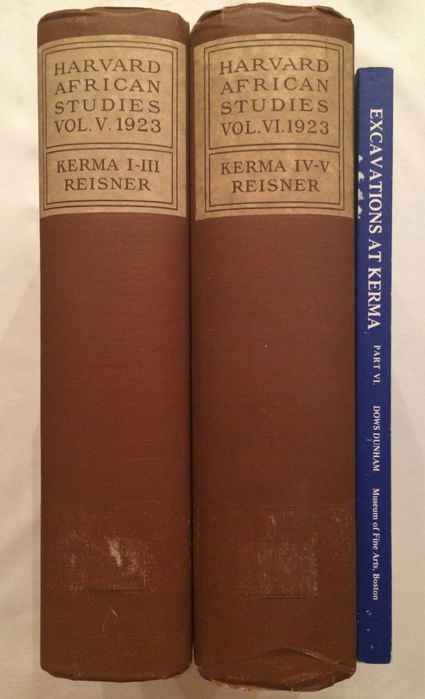 Excavations at Kerma. Parts I-III & IV-V & VI (complete set). REISNER George Andrew - DUNHAM Dows.[newline]M3408.jpg