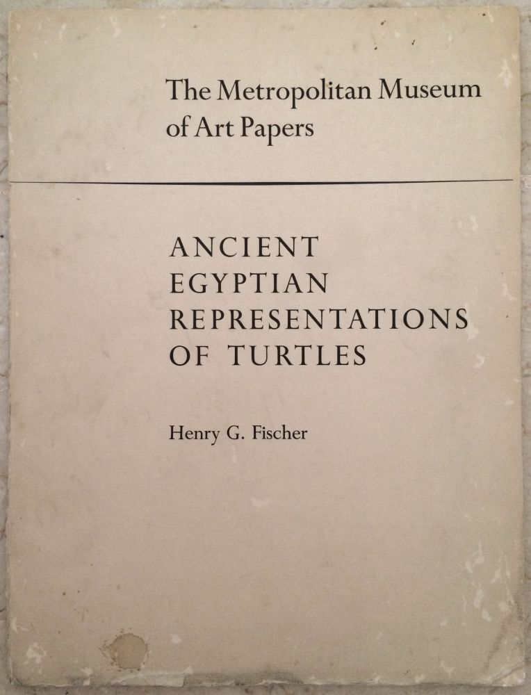 Ancient Egyptian Representations of Turtles. FISCHER Henry George.[newline]M3901.jpg