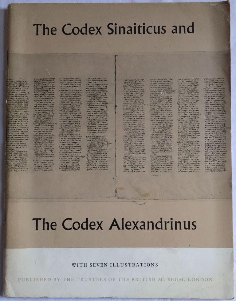 The codex sinaiticus and the codex alexandrinus by AAF - Museum - British  Museum on Meretseger Books