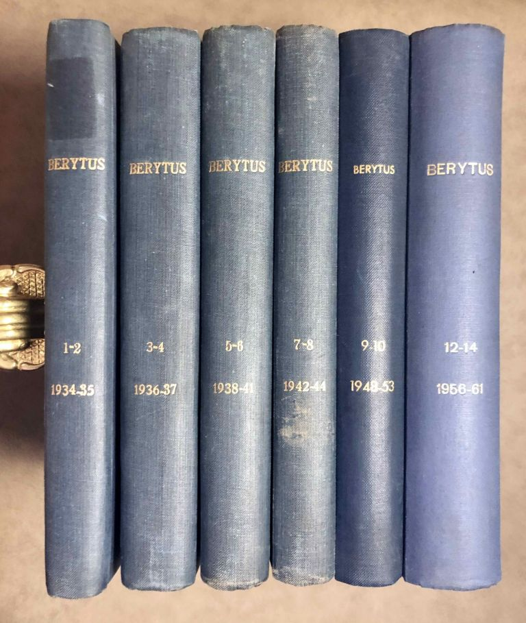 BERYTUS Archaeological studies. Tome I to XL (excepted tome XI). AAE - Journal - Set.[newline]M5198-00.jpeg