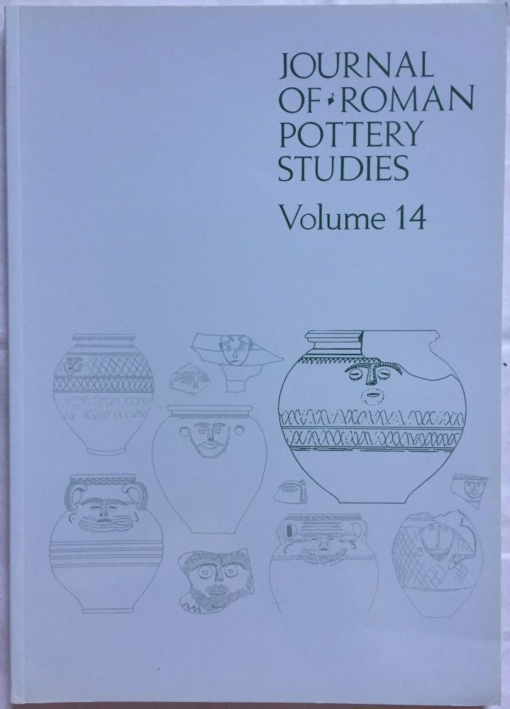 Journal of Roman Pottery Studies. Volume 14. AAE - Journal - Single issue.[newline]M5827.jpg