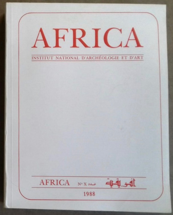 Africa. Fouilles, monuments et collections archéologiques en Tunisie. Tome X. AAE - Journal - Single issue.[newline]M5905.jpg