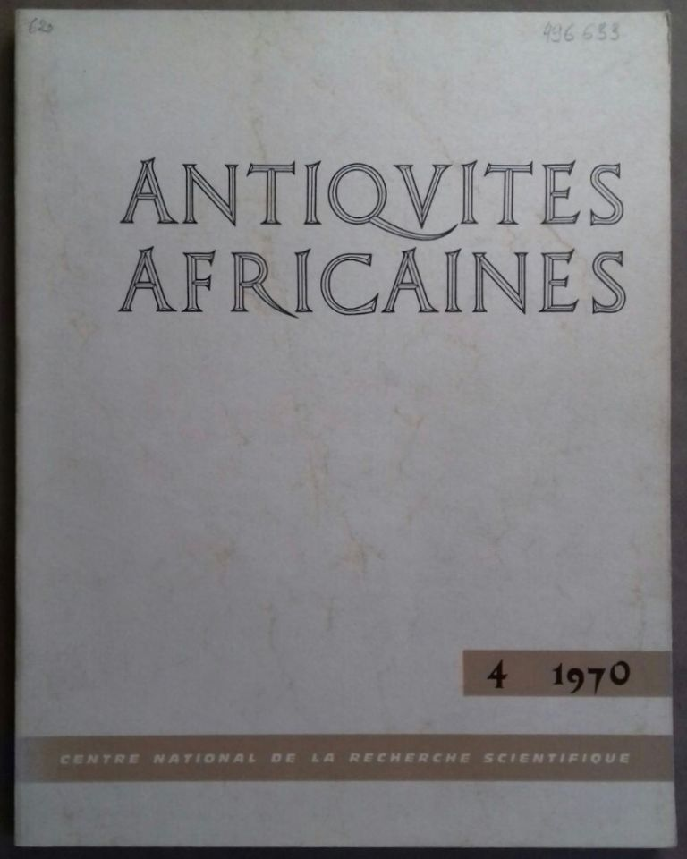 Antiquités africaines. Tome 4. 1970. AAE - Journal - Single issue.[newline]M5917.jpg