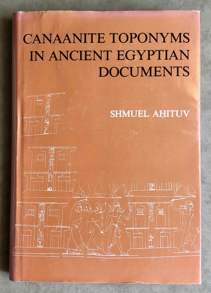 Canaanite toponyms in ancient Egyptian documents. AHITUV Shmuel.[newline]M7606.jpeg