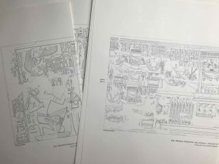 Temple of Khonsu. Vol. I: Scenes of King Herihor in the court. Vol. II: Scenes and inscriptions in the court and the first hypostyle hall (complete set)[newline]M0018c-07.jpeg