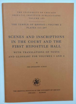 Temple of Khonsu. Vol. I: Scenes of King Herihor in the court. Vol. II: Scenes and inscriptions in the court and the first hypostyle hall (complete set)[newline]M0018c-18.jpeg