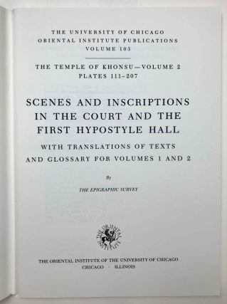 Temple of Khonsu. Vol. I: Scenes of King Herihor in the court. Vol. II: Scenes and inscriptions in the court and the first hypostyle hall (complete set)[newline]M0018c-19.jpeg