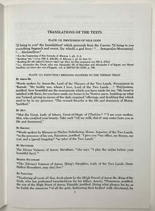 Temple of Khonsu. Vol. I: Scenes of King Herihor in the court. Vol. II: Scenes and inscriptions in the court and the first hypostyle hall (complete set)[newline]M0018c-21.jpeg