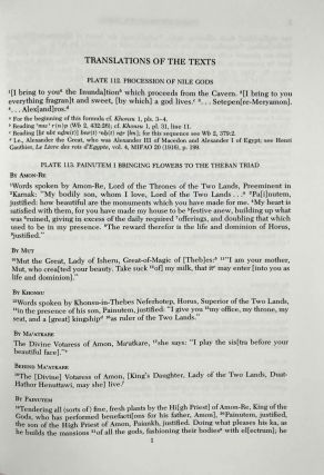 Temple of Khonsu. Vol. I: Scenes of King Herihor in the court. Vol. II: Scenes and inscriptions in the court and the first hypostyle hall (complete set)[newline]M0018e-17.jpeg