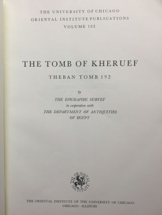The tomb of Kheruef (text fascicle only, without the plates)[newline]M0022c-01.jpg