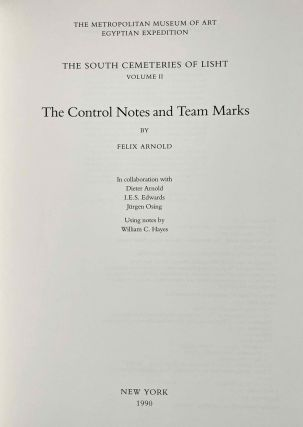 The south cemeteries of Lisht. Vol. I: the pyramid of Senwosret I. Vol. II: The control notes and team marks. Vol. III: the pyramid complex of Senwosret I (complete set)[newline]M0092-11.jpeg