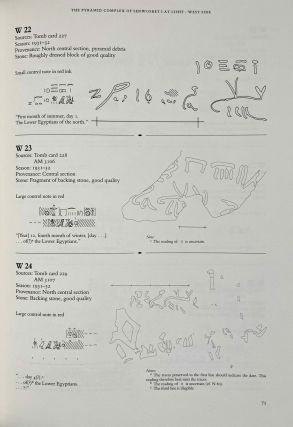 The south cemeteries of Lisht. Vol. I: the pyramid of Senwosret I. Vol. II: The control notes and team marks. Vol. III: the pyramid complex of Senwosret I (complete set)[newline]M0092-22.jpeg