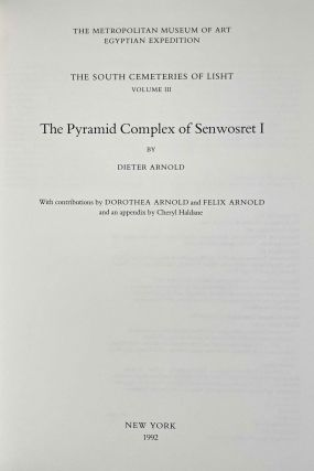 The south cemeteries of Lisht. Vol. I: the pyramid of Senwosret I. Vol. II: The control notes and team marks. Vol. III: the pyramid complex of Senwosret I (complete set)[newline]M0092-24.jpeg