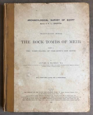 The rock tombs of Meir. Part I-VI (complete set)[newline]M0154a-01.jpg
