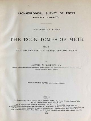 The rock tombs of Meir. Part I-VI (complete set)[newline]M0154a-04.jpg