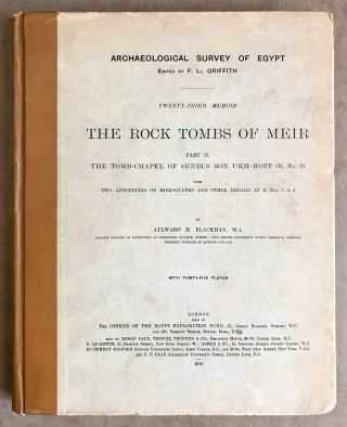 The rock tombs of Meir. Part I-VI (complete set)[newline]M0154a-11.jpg
