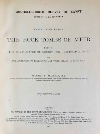 The rock tombs of Meir. Part I-VI (complete set)[newline]M0154a-12.jpg