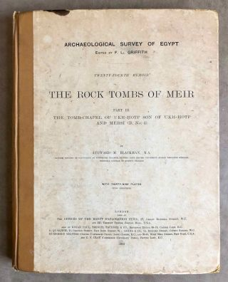 The rock tombs of Meir. Part I-VI (complete set)[newline]M0154a-20.jpg