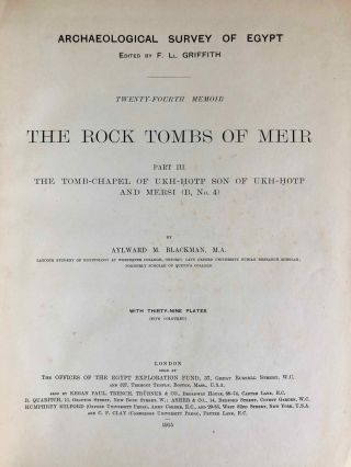 The rock tombs of Meir. Part I-VI (complete set)[newline]M0154a-22.jpg