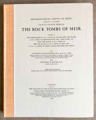 The rock tombs of Meir. Part I-VI (complete set)[newline]M0154a-37.jpg