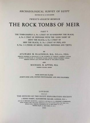 The rock tombs of Meir. Part I-VI (complete set)[newline]M0154a-38.jpg