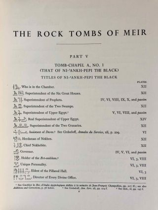 The rock tombs of Meir. Part I-VI (complete set)[newline]M0154a-40.jpg