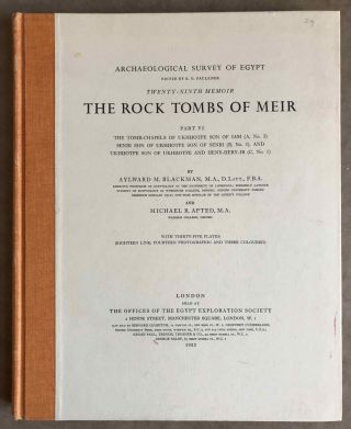 The rock tombs of Meir. Part I-VI (complete set)[newline]M0154a-51.jpg