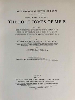 The rock tombs of Meir. Part I-VI (complete set)[newline]M0154a-53.jpg