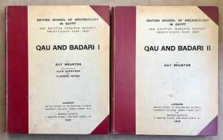 Qau and Badari. Vol. I & II.. With chapters by Alan Gardiner and Flinders Petrie. BRUNTON Guy[newline]M0235b.jpg