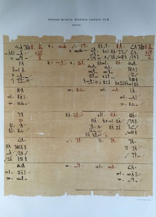 Facsimilé of the Rhind mathematical papyrus[newline]M0265a-07.jpg